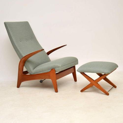 1960's Rock 'n' Rest Armchair & Stool by Rastad & Relling (1 of 12)