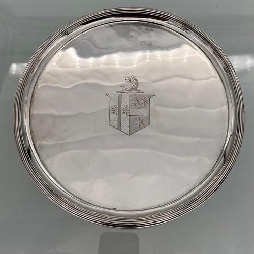 Antique George III Pair of Sterling Silver Salvers London 1802 Thomas Wallis II (1 of 9)