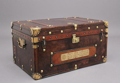 20th Century Leather Bound ex Army Trunk (1 of 13)