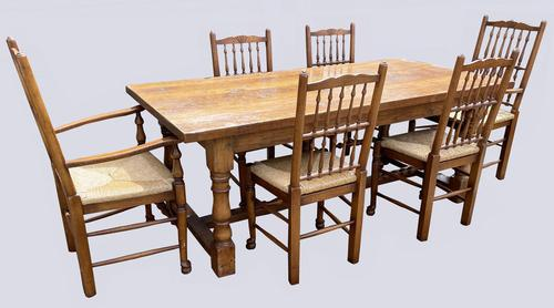 A Superb Oak Dining Suite by Brights of Nettlebed (1 of 10)
