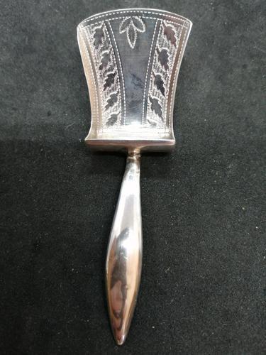 Georgian Silver Caddy Spoon - William Pugh (1 of 6)