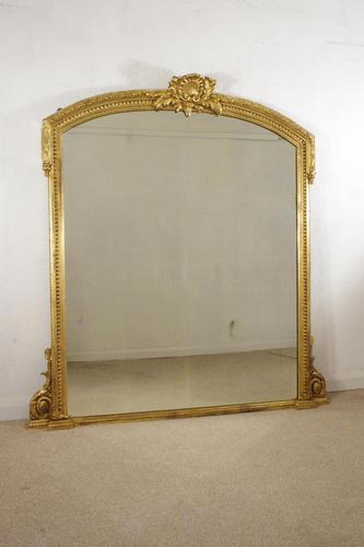 Victorian Gilt Overmantle Mirror (1 of 10)