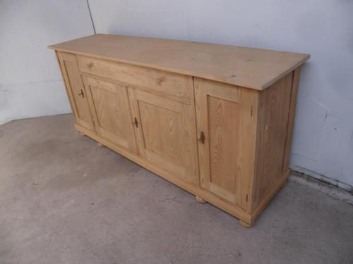 Lovely Antique Pine 4 Door 1 Drawer TV Stand / Dresser Base to wax / paint (1 of 9)