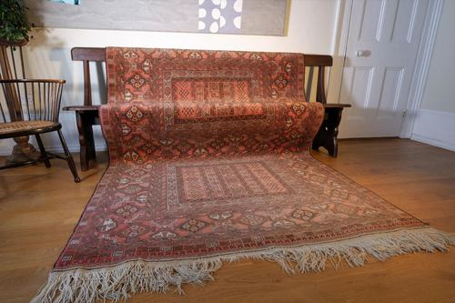 Large Mid 20th Century Afghan Ensi Rug (1 of 13)