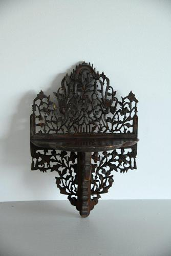 Anglo Indian Pierced & Carved Wall Bracket (1 of 6)