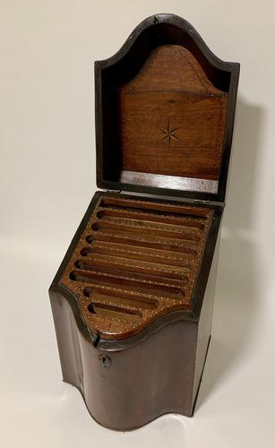 Georgian Mahogany Inlaid Knife Box (1 of 21)