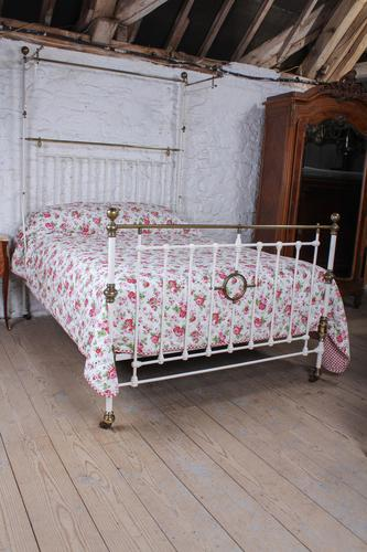 Beautiful Victorian King Size Half Tester Bed (1 of 11)
