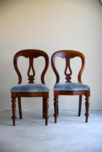 Pair of Victorian Mahogany Dining Chairs (1 of 9)
