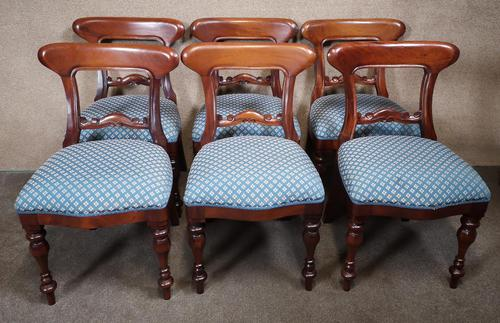 Set of Six Mahogany Dining Chairs In The Victorian Style (1 of 10)