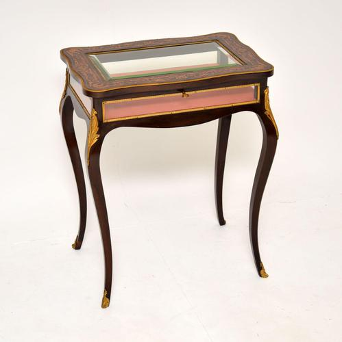 Antique French Inlaid Rosewood Bijouterie Display Table (1 of 15)