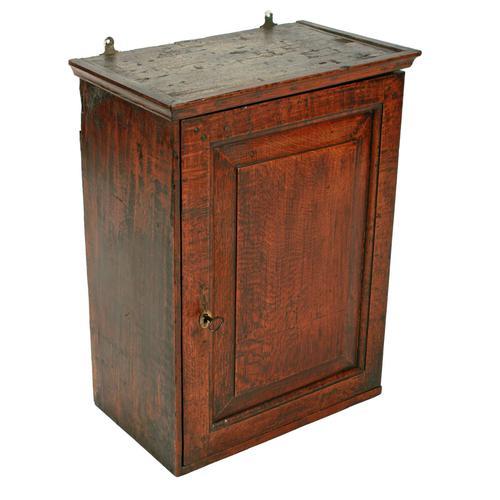 18th Century Oak Spice Cabinet (1 of 6)
