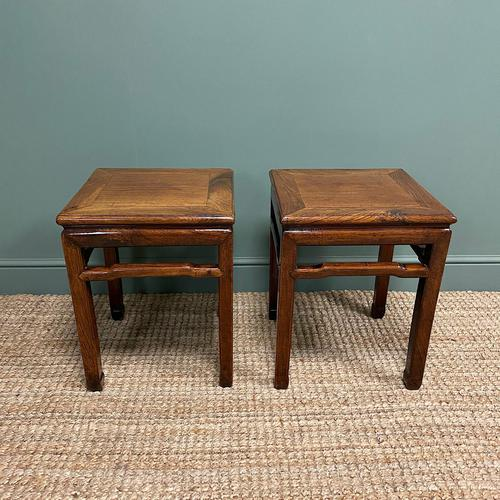 Stunning Pair of Antique Chinese Side Tables (1 of 4)