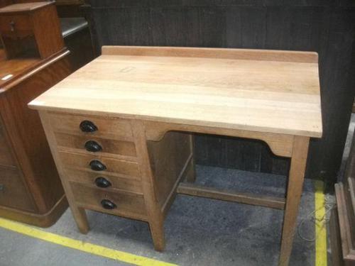 Light Oak Five Drawer Desk (1 of 2)