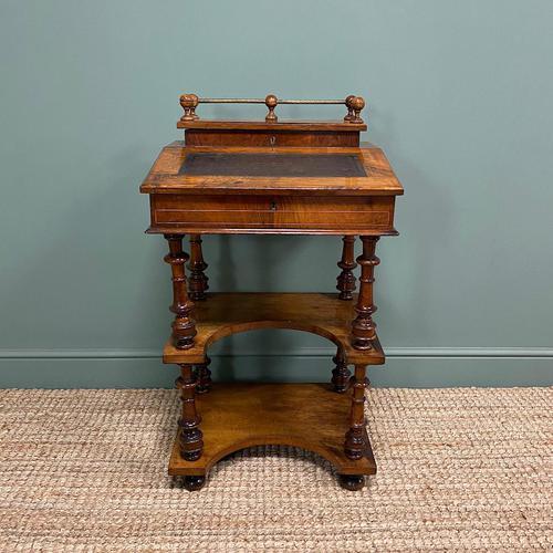 Stunning Victorian Walnut Antique Davenport Whatnot (1 of 10)