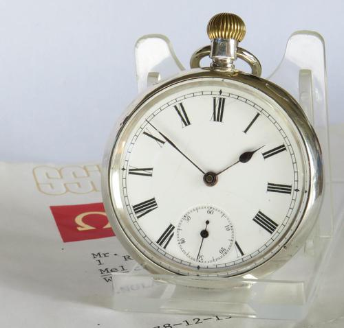 Antique Silver Omega Pocket Watch (1 of 4)