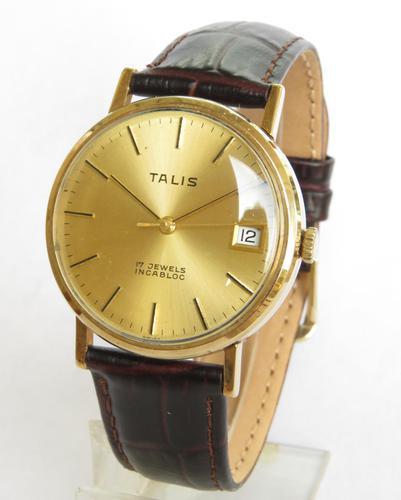 Gents  9 carat gold Talis wrist watch (1 of 4)