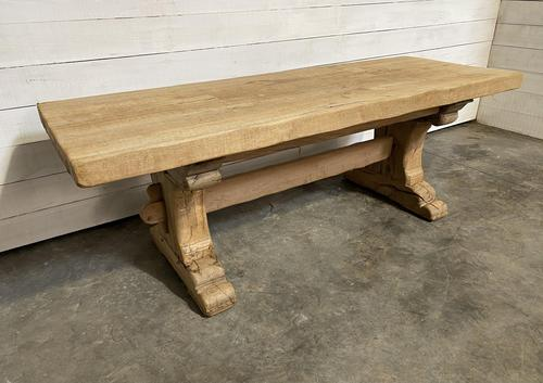 Rustic Bleached Oak Farmhouse Refectory  Table (1 of 21)