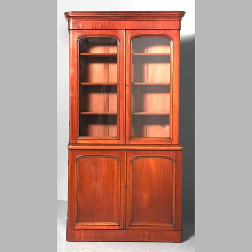 Victorian Mahogany 2 Part Library Bookcase (1 of 9)