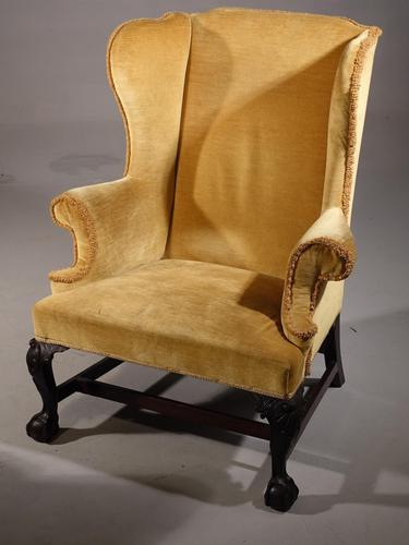 Early 20th Century Shapely Wing Chair (1 of 5)