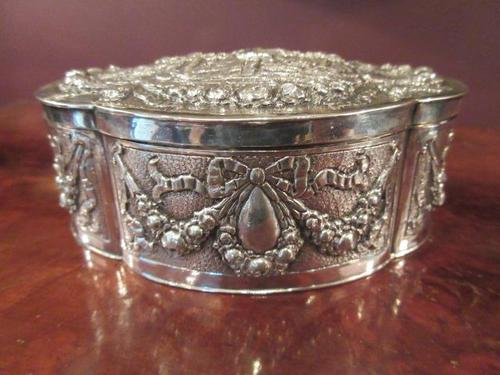 Antique Cast Silver Shaped Table Box (1 of 8)