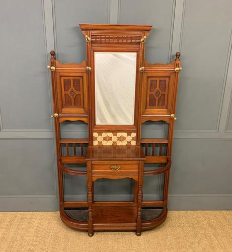 Large Victorian Walnut Hall Stand by James Shoolbred and Co. (1 of 17)