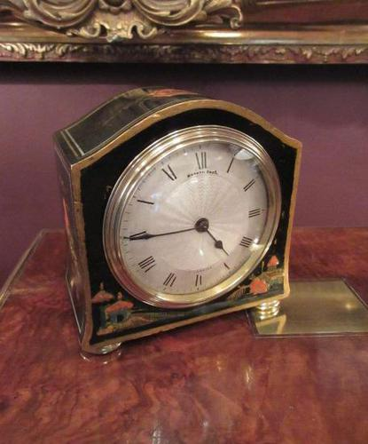 Small Antique Chinoiserie Mantel Clock (1 of 8)