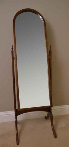Tilting Edwardian Cheval  Mirror (1 of 3)