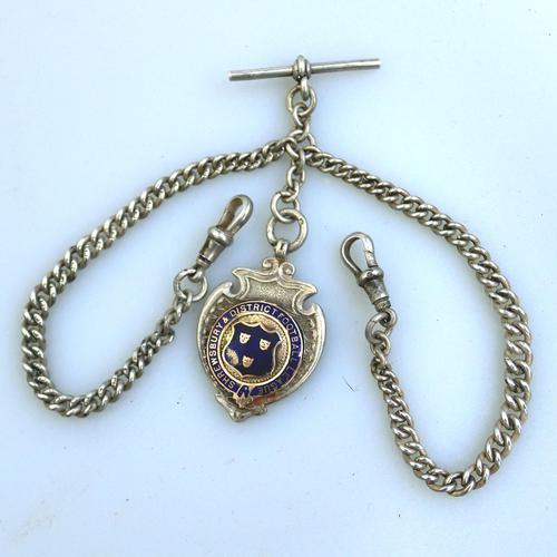 Solid Silver Double Watch Albert / Albertina 40g c.1904 (1 of 4)