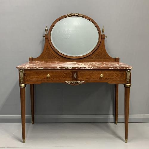 Large French Marble Top Dressing Table (1 of 9)