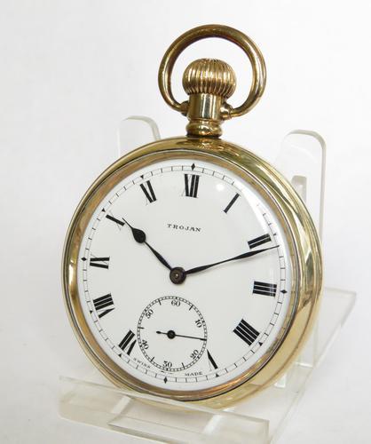 1920s Trojan pocket watch by Armand Jeanneret (1 of 5)