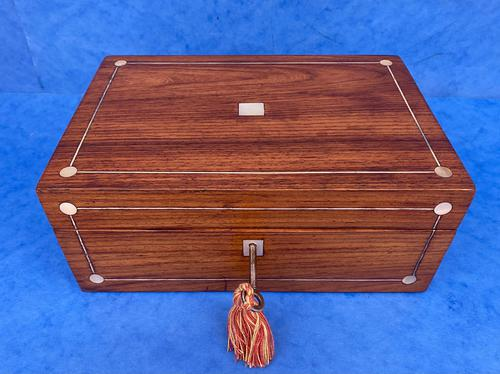 Victorian Rosewood Jewellery Box with Inlay (1 of 10)