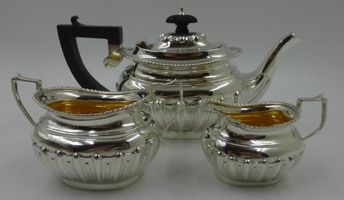 Antique Silver Batchelors Tea Set - Birmingham 1902 (1 of 13)
