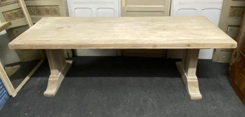 Large Bleached Oak French Farmhouse Dining Table (1 of 23)