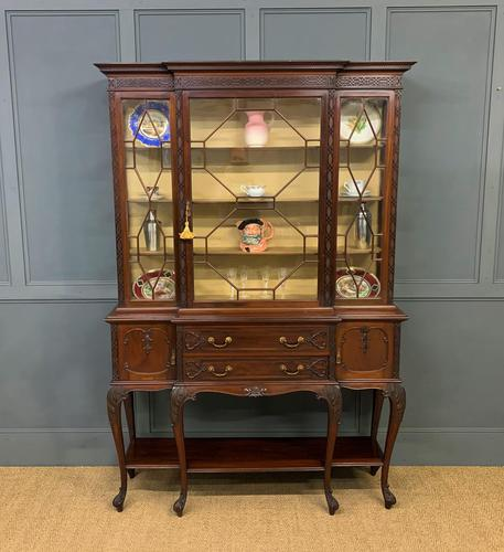Carved Mahogany Display Cabinet by Warings (1 of 19)
