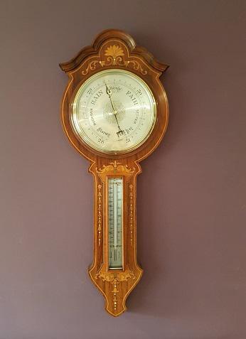 Superb Antique Rosewood Sheraton Inlaid Barometer (1 of 7)