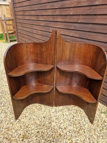 Pair of Late 19th Century Mahogany Corner Bedside Stands (1 of 2)