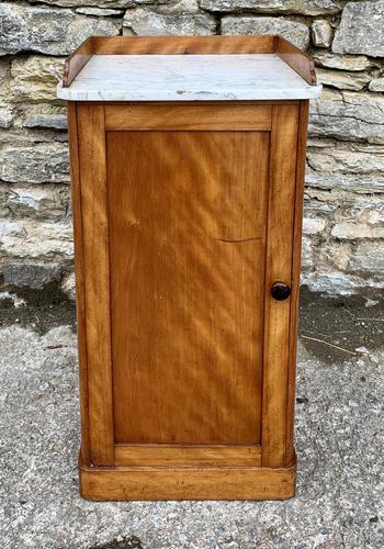 Antique Victorian Satinwood Bedside Pot Cupboard (1 of 16)