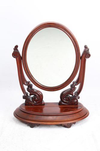 Victorian Mahogany Dressing Table Mirror / Toilet Mirror (1 of 13)