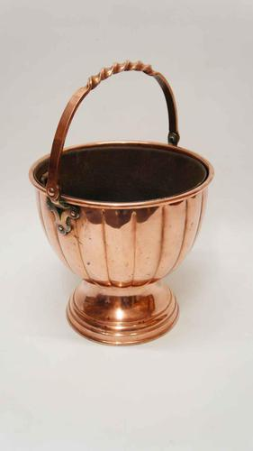 Arts & Crafts Copper Fireside Log / Coal Bucket or Planter (1 of 11)