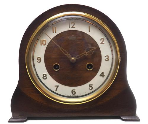Very Good Arched Top Art Deco Mantel Clock – Smiths Striking 8-day Mantle Clock (1 of 10)