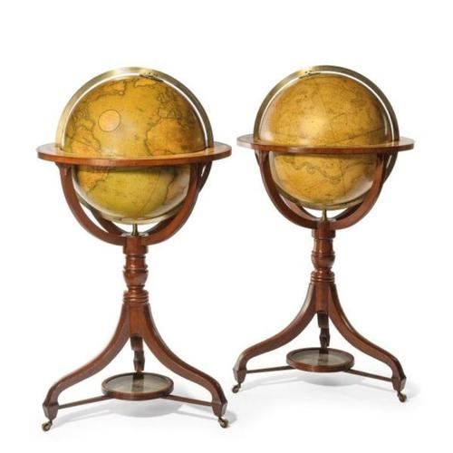 "Fine Pair of Cary's 18"" Floor Standing Library Globes (1 of 6)"