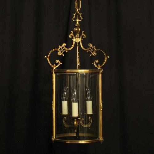 French Gilded Bronze Antique Hall Lantern (1 of 10)