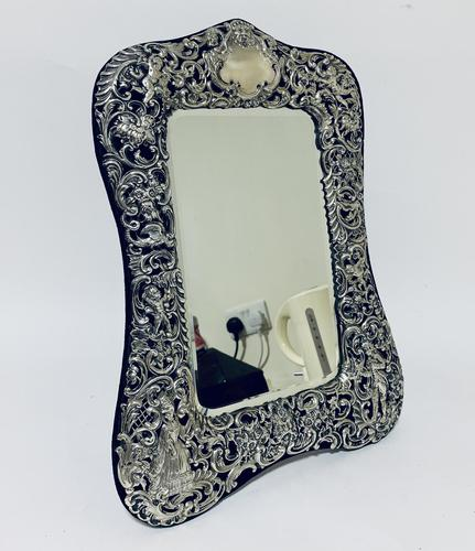 Large Victorian Silver Dressing Table Mirror (1 of 16)