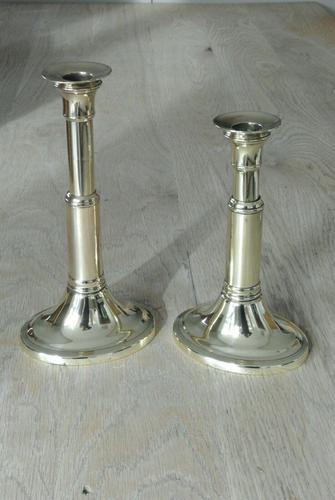 Pair of Georgian18th Century Brass Telescopic Candlesticks Styche Patent 1790-1810 (1 of 11)