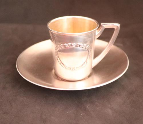 Russian Silver Cup and Saucer (1 of 5)