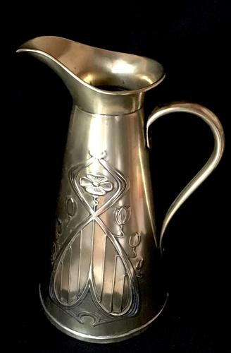 Art Nouveau Large Brass Jug by Joseph Sankey and Sons of Wolverhampton c.1900 (1 of 3)