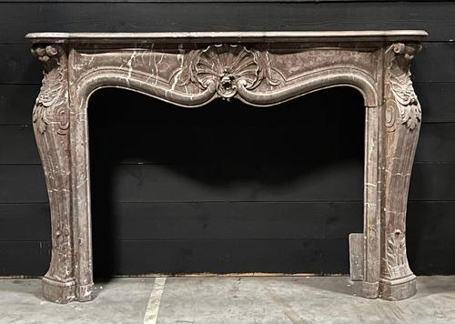 Important French Louis XV Marble Fireplace (1 of 13)