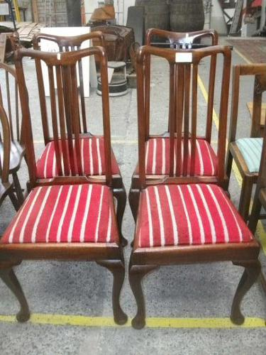 Set of 4 Queen Anne Leg Dining Chairs (1 of 4)