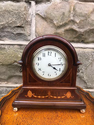 Edwardian Inlaid Mahogany Mantle Clock (1 of 6)