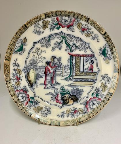 Victorian B.W. & co Staffordshire Potteries Plate c.1891 (1 of 5)